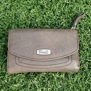 Fossil Clay Brown Leather Wallet